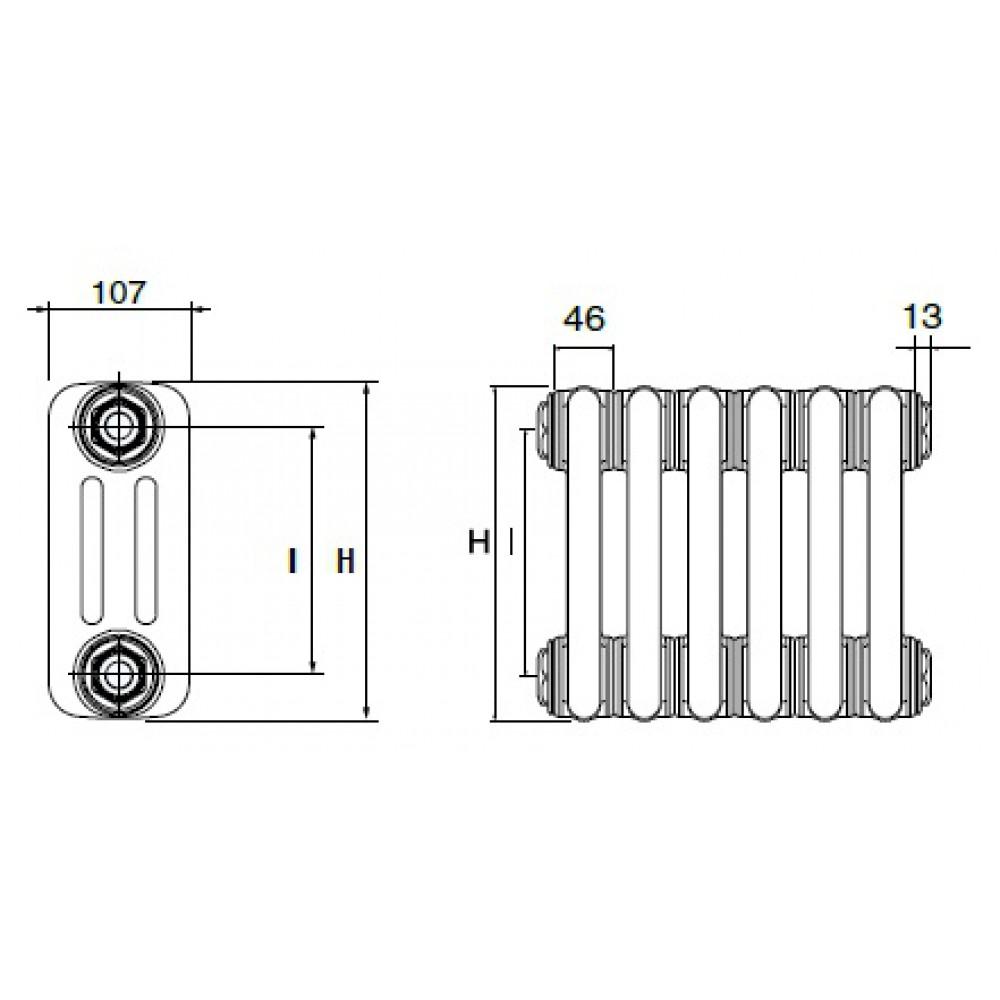 Стальные трубчатые радиаторы DeLonghi MultiColonna 3150