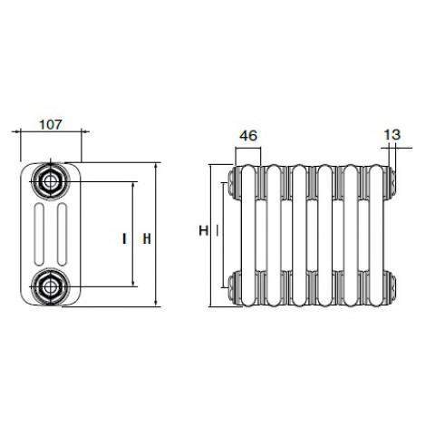Стальные трубчатые радиаторы DeLonghi MultiColonna 3057