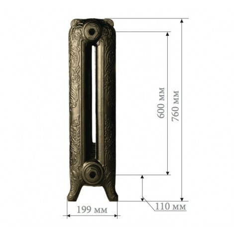 Чугунный радиатор Demir Dokum Nostalgia