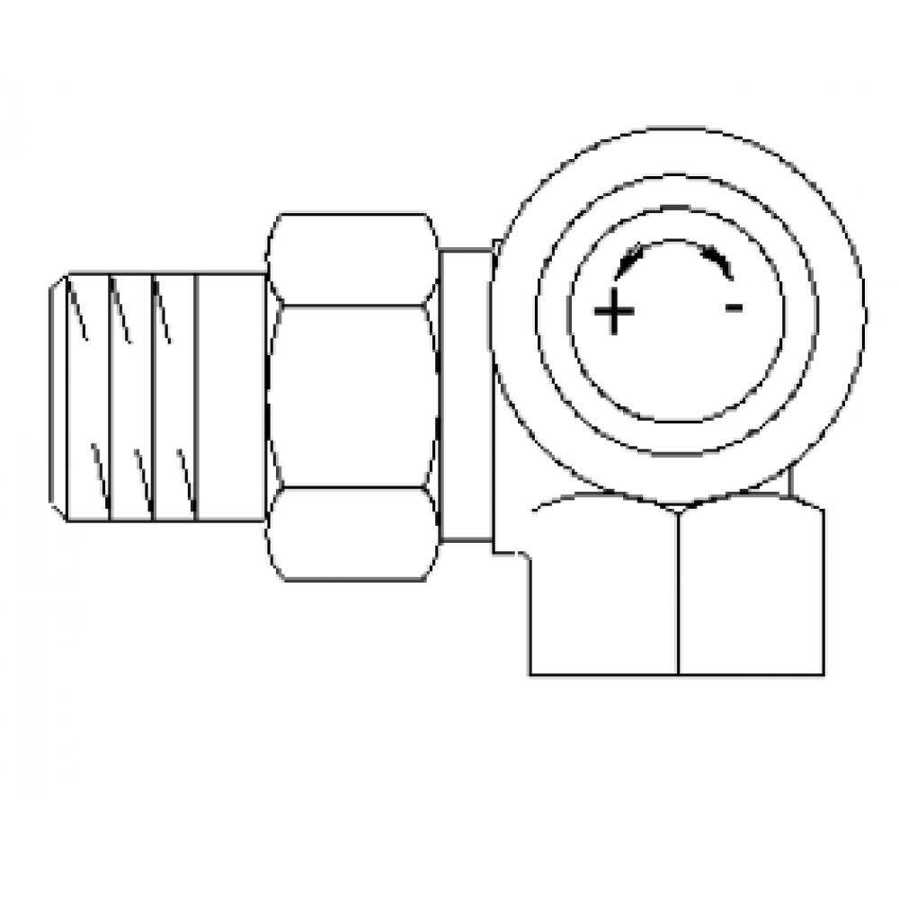 """Серия """"AV 6"""" термостат. вентиль, угловой трехос., правое присоед."""